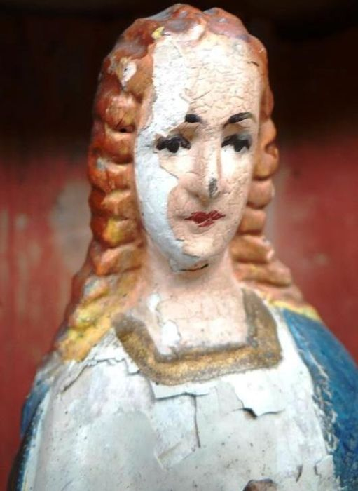 female Saint , Sculpture - Wood - 19th century