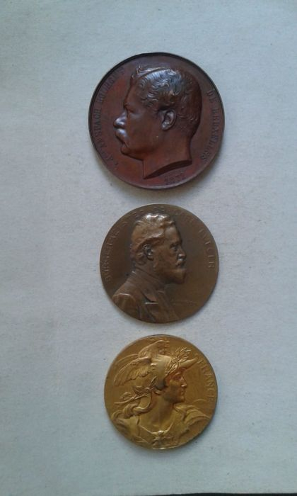 European Countries - 3 various medals (Belgium - Austria - France) - Bronze