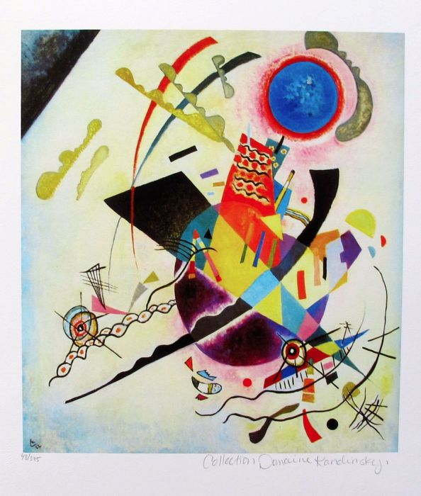 Wassily Kandinsky (after) -  Blue Cicle