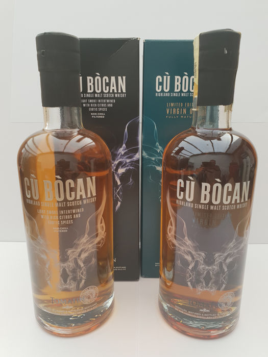 Tomatin Cù Bòcan & Cù Bòcan Virgin Oak - Original bottling - 700ml - 2 bouteilles