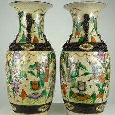 Vases (2) - Porcelain - China - Late 19th century