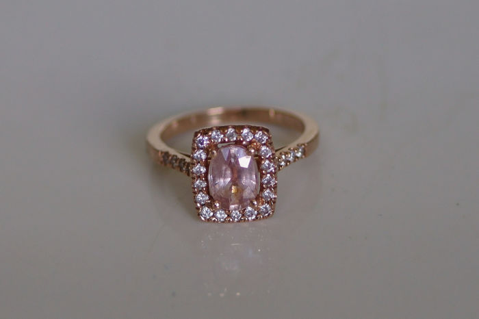 Marks Jewelers - 14 kt. Pink gold - Ring - 1.18 ct Sapphire - Diamond