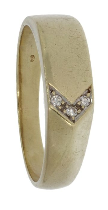 Vintage - 14 kt. Yellow gold - Ring - 0.03 ct Diamond