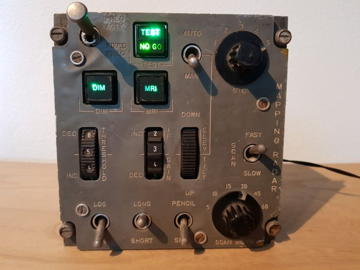 Ground mapping radar control panel - panavia tornado Airplane