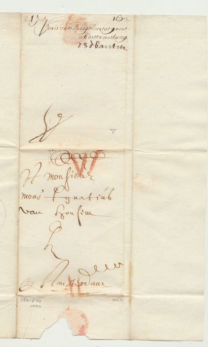 Collection of 11 manuscript letters - 1674/1909