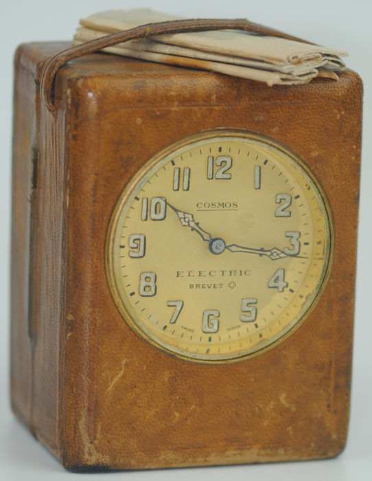 Cosmos Electric Brevet (Swiss) Travel Clock - Leather - Early 20th century