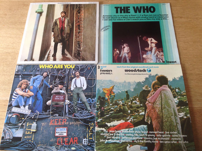 Woodstock 1 / The Who - 4 Albums ( 7 records ) Woodstock and The Who - Lp/Double Lp/Triple Lp - 1970/1979