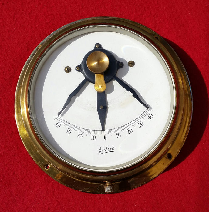 Marine clinometer - Brass, Glass - about 1960