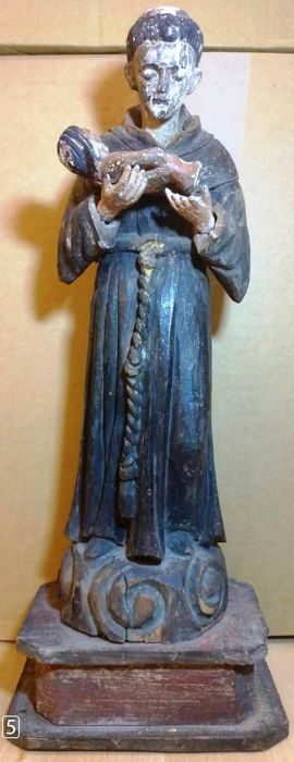 Saint with Child Christ, Sculpture - Wood - 19th century