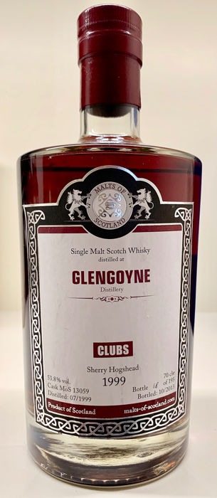 Glengoyne 1999 Clubs sherry hogshead - Malts of Scotland - b. 2013 - 70cl