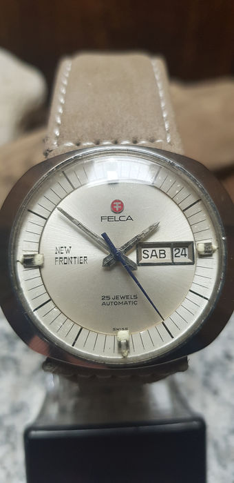 Felca - Swiss New Frontier Automatic Day/Date Dynamik Case - 8134 - Hombre - 1970-1979