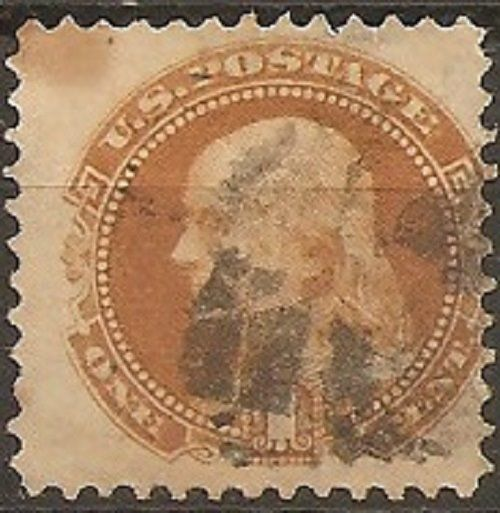 Verenigde Staten 1869 - U.S.A. Lot 08, used stamp with grill - Unificato 33A
