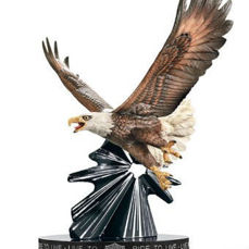 Sculpture - Franklin Mint Harley Davidson Live To Ride Eagle Porcelain Sculpture - 2009