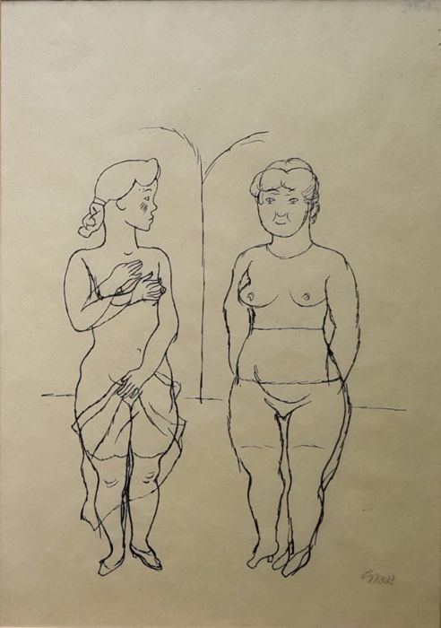 George Grosz - Zwei Frauen (Two Women)