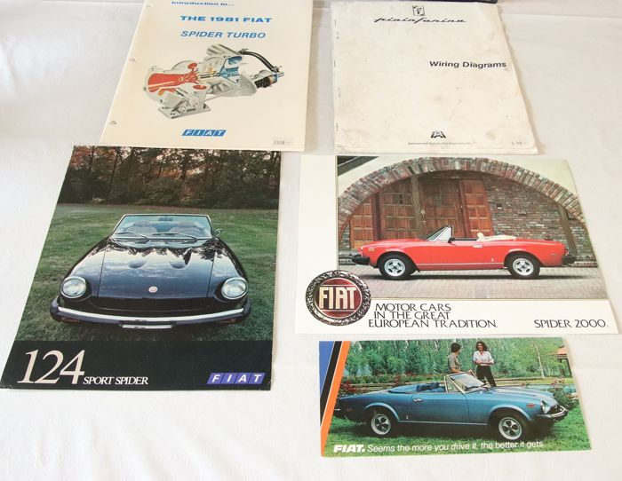 brochures / catalogues - fiat - 124 spider - 1980-1981 - catawiki  catawiki
