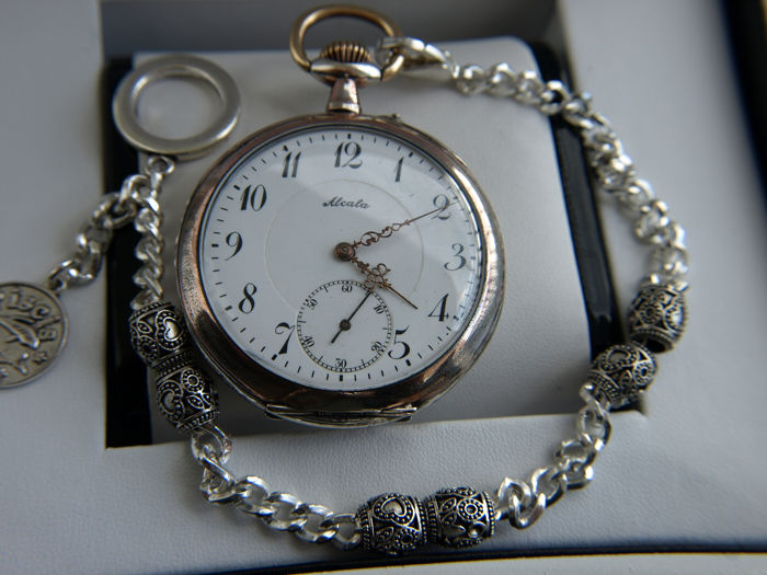 Alcala  -  pocket watch NO RESERVE PRICE -  8 1886 - Uomo - 1901-1949