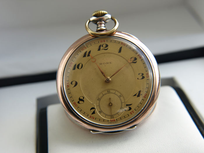 Bore - Max Hüttner SA  - pocket watch NO RESERVE PRICE -  168429  - Uomo - 1901-1949
