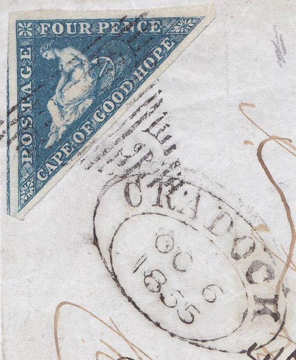 Mancomunidad Británica 1853/1863 - Cape of Good Hope - 4 pence on fragment