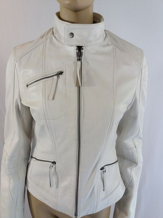 450ce74c Arma Woman Leather - White leather biker jacket in new condition - Size: EU  36
