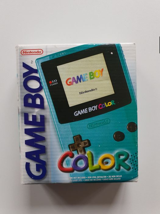 Nintendo Gameboy Color Limited TEAL Turqouise GBC Boxed Transparent - NES - In original sealed box