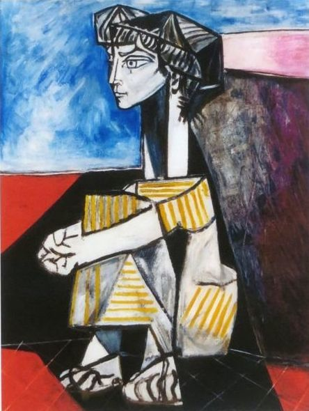 Pablo Picasso ( after ) - Jacqueline with Arms Crossed