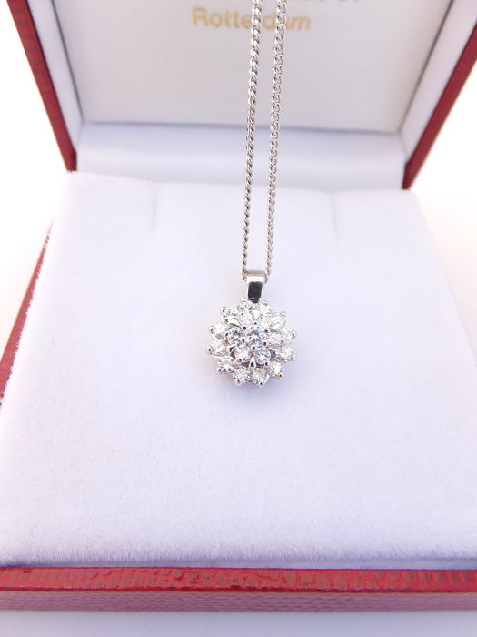 14 kt. Gold - Necklace with pendant Diamond
