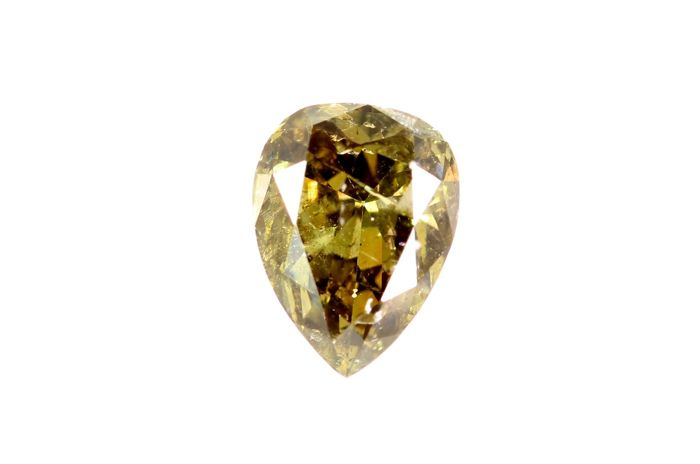 Diamante - 0.46 ct - Pera - SI2 -  IGI Certificate - * No Reserve Price *