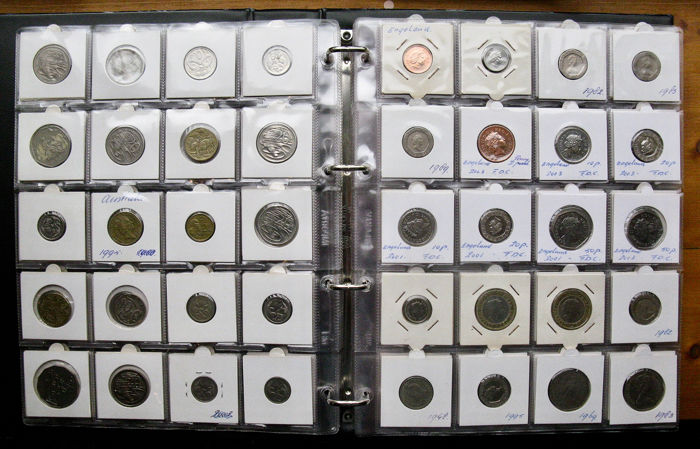 Großbritannien und das Commonwealth - Collection various coins 1909/2004 (253 pieces) in album