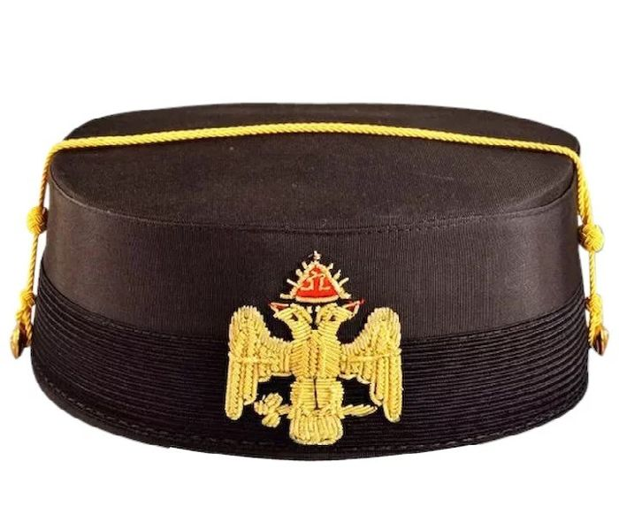 Historic Vintage 32nd Degree Masonic Cap - Satin