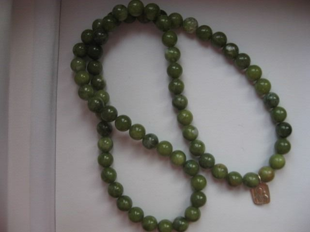 Necklace with pendant - Nephrite