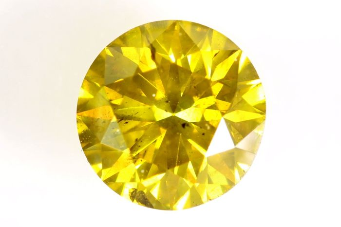 Diamante - 1.08 ct - Brillante - ( Color Treated ) - SI1 - * NO RESERVE PRICE *