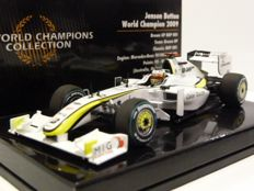 MiniChamps - 1:43 - Brawn GP BGP001 Mercedes Benz - Jenson Button World Champion - 2009