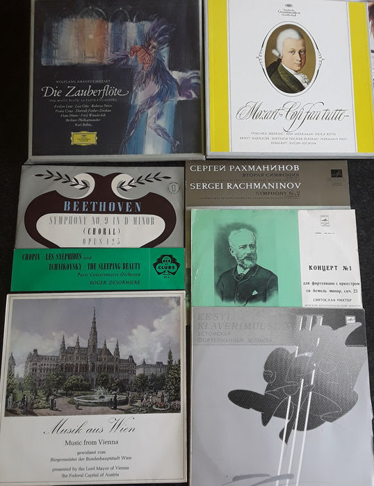 Wolfgang Amadeus Mozart - Multiple artists - Die Zauberflöte - Così Fan Tutte - Multiple titles - LP Box set, LP's - 1955/1972