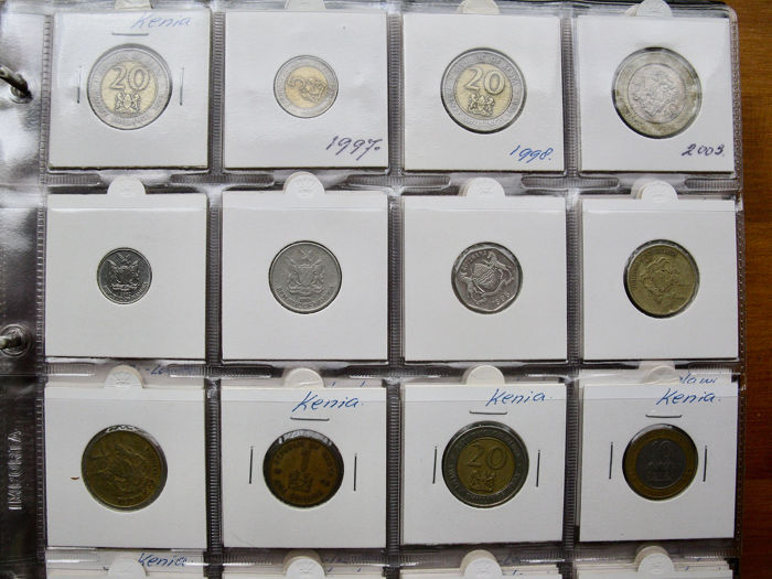 Africa, Middle East, Asia - Collection various coins 1941
