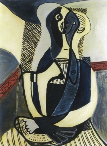 Pablo Picasso ( after ) - Seated Woman