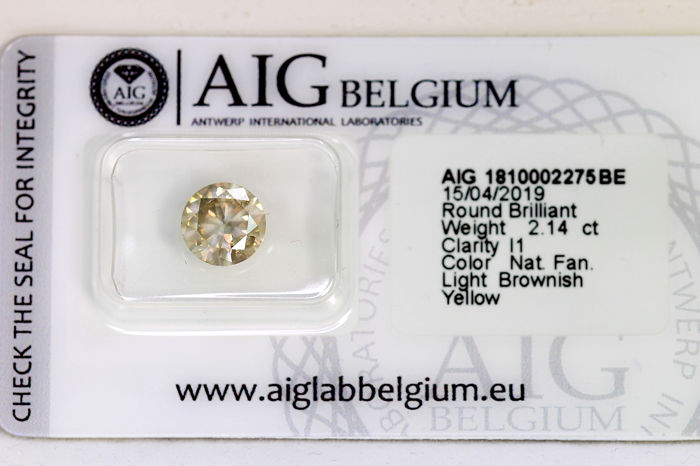 Diamante - 2.14 ct - Brillante - I1