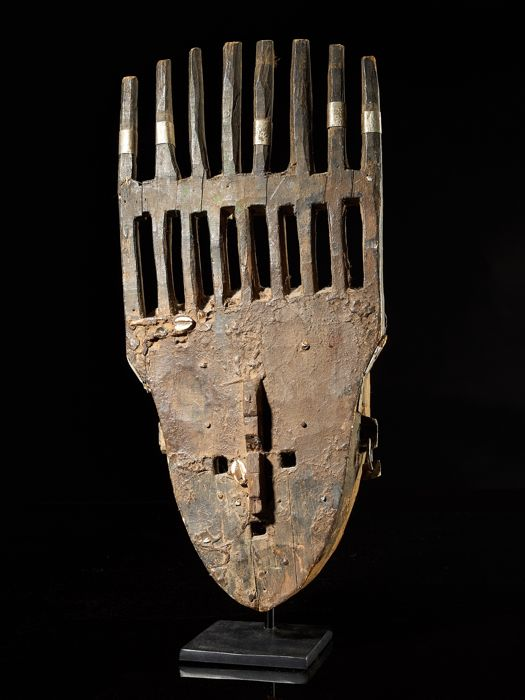 Face mask - Metal, Wood - Bambara - Mali