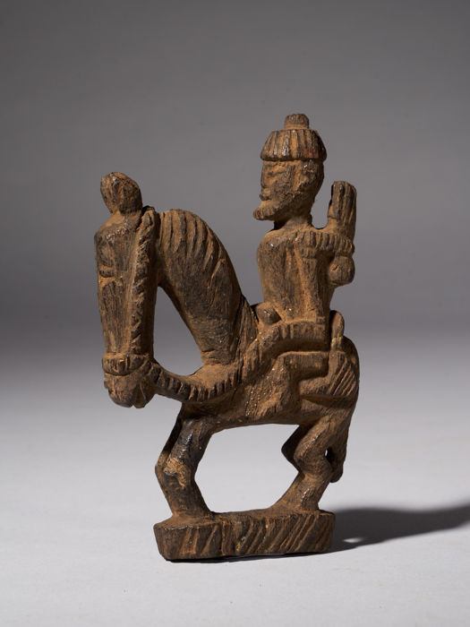 Equesterian figure - Wood - Dogon - Mali