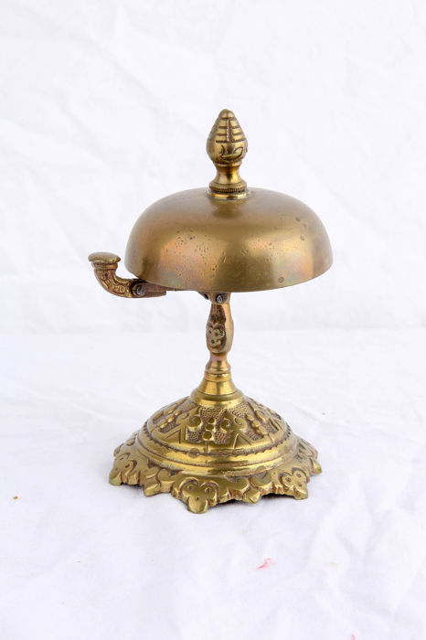 Antique French counter / hotel bell (1) - Alloy, Brass