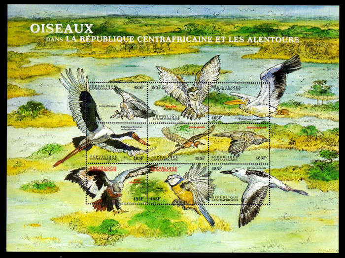 Wereld - Bird collection, stamps and blocks.