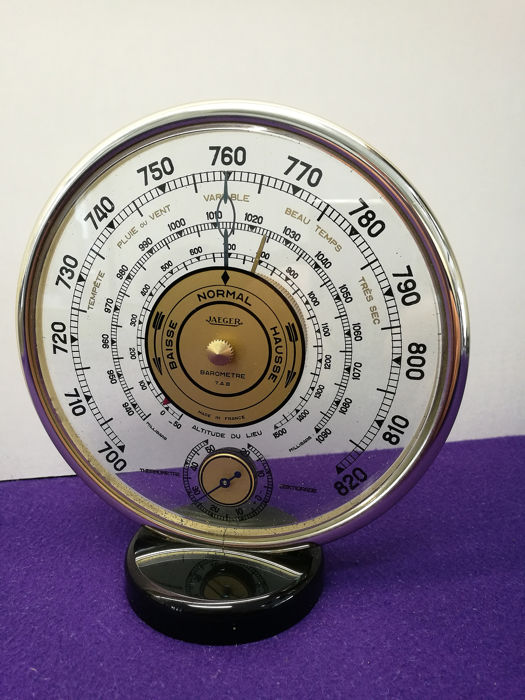 Barometer / Thermometer - Glass / Gold plated brass - ± 1960