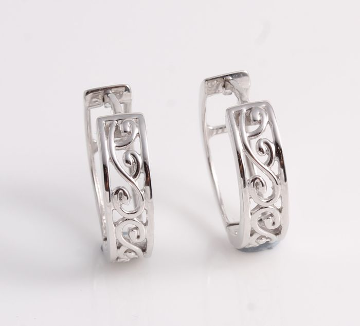 14 kt. White gold - Earrings