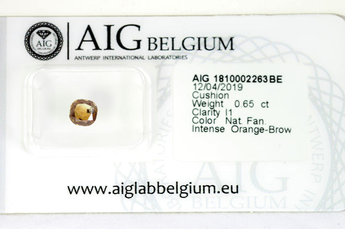Diamante - 0.65 ct - Cojín - * NO RESERVE PRICE *