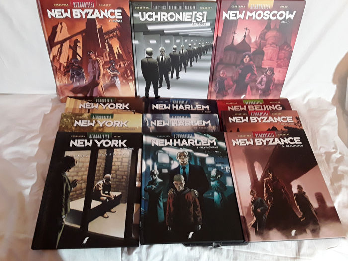 Uchronies - New York 1 t/m 3 - New Harlem 1 t/m 3 - New Byzance 1 t/m 3 - New Moscow 1 - New Beijing 1 - Cartonné - EO - (2008/2013)