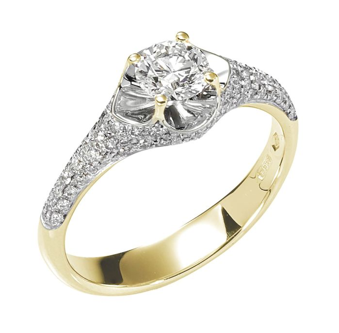 ITITOLI - 18 kt. Yellow gold - Ring - 0.50 ct Diamond - Diamonds