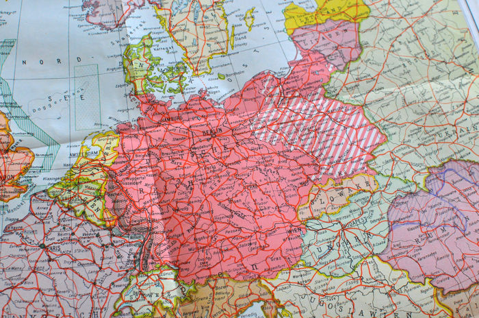Germany - TWO MAPS SECOND WORLD WAR MAP of the German ...