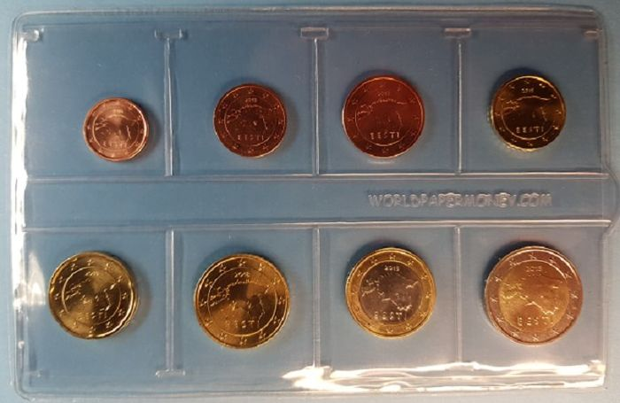 CYPRUS 2009 COMPLETE EURO COINS SET UNC IN NICE PACKING