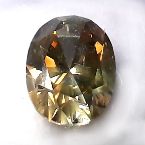 Diamant - 1.25 ct - Oval - light yellowish brown - SI2