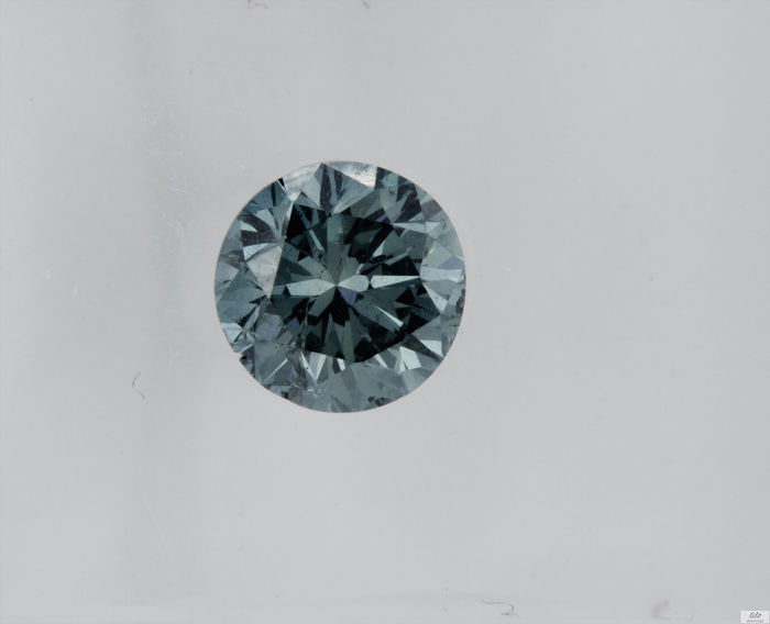 Diamante - 0.60 ct - Brillante - fancy blue - VS2