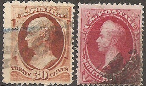 Verenigde Staten 1887/1888 - U.S.A. Lot 19, 2 used stamps - Unificato 87, 88